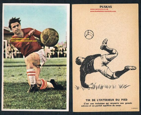 1961 Puskas card France Miroir Sprint